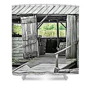 Old Barn At The Farm On Sunny Day Shower Curtain