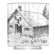 Old Barn Cable Ghost Town Montana Shower Curtain