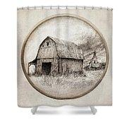 Old Barn Shower Curtain by Eric Fan