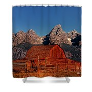 Old Barn Grand Tetons National Park Wyoming Shower Curtain by Dave Welling
