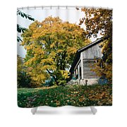Old Barn In Autum Shower Curtain