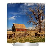 Old Barn In Chester Shower Curtain