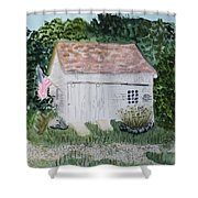 Old Barn In Eastham Ma Shower Curtain
