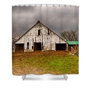 Old Barn In The Storm Shower Curtain