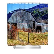 Old Barn In West Virginia Mountains 4836 Fusedt Shower Curtain