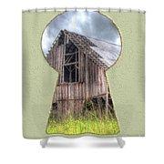 Old Barn Keyhole Shower Curtain