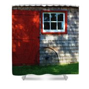 Old Barn New Paint Shower Curtain