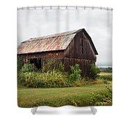 Old Barn On Seneca Lake - Finger Lakes - New York State Shower Curtain by Gary Heller