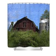 Old Barn On Summer Hill Shower Curtain