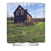 Old Barn Out In A Field Shower Curtain