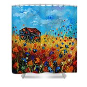 Old Barn  Shower Curtain by Pol Ledent