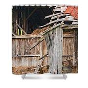 Old Barn Ruin  Shower Curtain