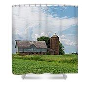 Old Barn Country Scene 4 B Shower Curtain