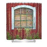 Old Barn Window Shower Curtain