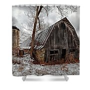 Old Barn Winter Shower Curtain