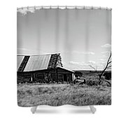 Old Barn With Tree Shower Curtain