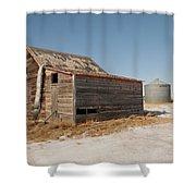 Old Barns And A Grain Bin Shower Curtain