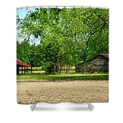 Old Barns In The Woods Shower Curtain