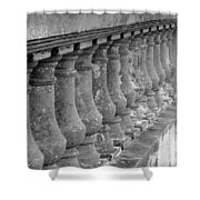 Old Bayshore Balustrades Shower Curtain