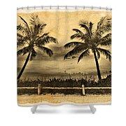 Old Beach Shower Curtain