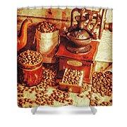 Old Bean Mill Decor. Kitchen Art Shower Curtain