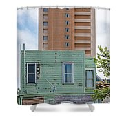 Old Before New High Rise Shower Curtain