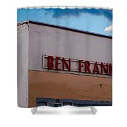 Old Ben Franklin Store 2 #vanishingtexas Rosebud Shower Curtain