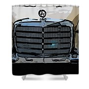 Old Benz Shower Curtain