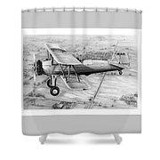 Old Bi Plane Shower Curtain