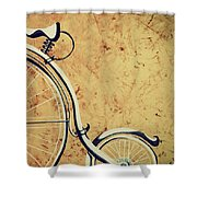 Old Bicycle-part Two Shower Curtain