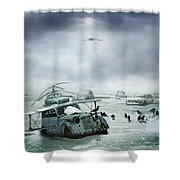 Old Birds Shower Curtain