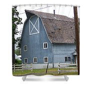 Old Blue Barn Littlerock Washington Shower Curtain