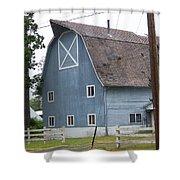 Old Blue Barn Littlerock Washington Shower Curtain