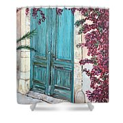 Old Blue Doors Shower Curtain