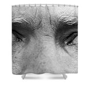 Old Blue Eyes Shower Curtain