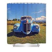 Old Blue Truck Vermont Shower Curtain
