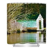 Old Boathouse Shower Curtain