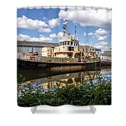 Old Boats Along The Exeter Canal 2 Shower Curtain