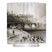 Old Boats Bridge, Limerick, Ireland Shower Curtain