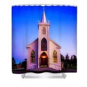 Old Bodega Church Sunset Shower Curtain