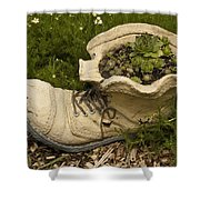 Old Boot Shower Curtain