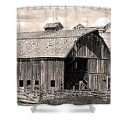 Old Boulder County Colorado Barn Shower Curtain