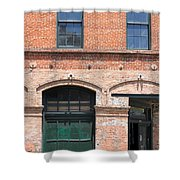 Old Brick Building Shower Curtain
