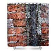 Old Brick Wall Abstract Shower Curtain