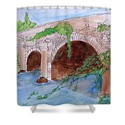 Old  Bridge In Ireland Shower Curtain