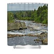 Old Bridge Infrastructure Shower Curtain