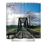 An Old Railroad Bridge  Shower Curtain