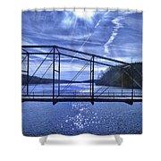Old Bridge Over The Savannah River 001 Shower Curtain