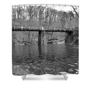 Old Brige In The Fall Shower Curtain