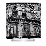 Old Building In Sicily Shower Curtain